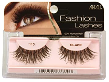 bcca2ce4bc4 Amazon.com : Ardell Fashion Lashes False Eyelashes - #113 Black (Pack of 4)  : Fake Eyelashes And Adhesives : Beauty