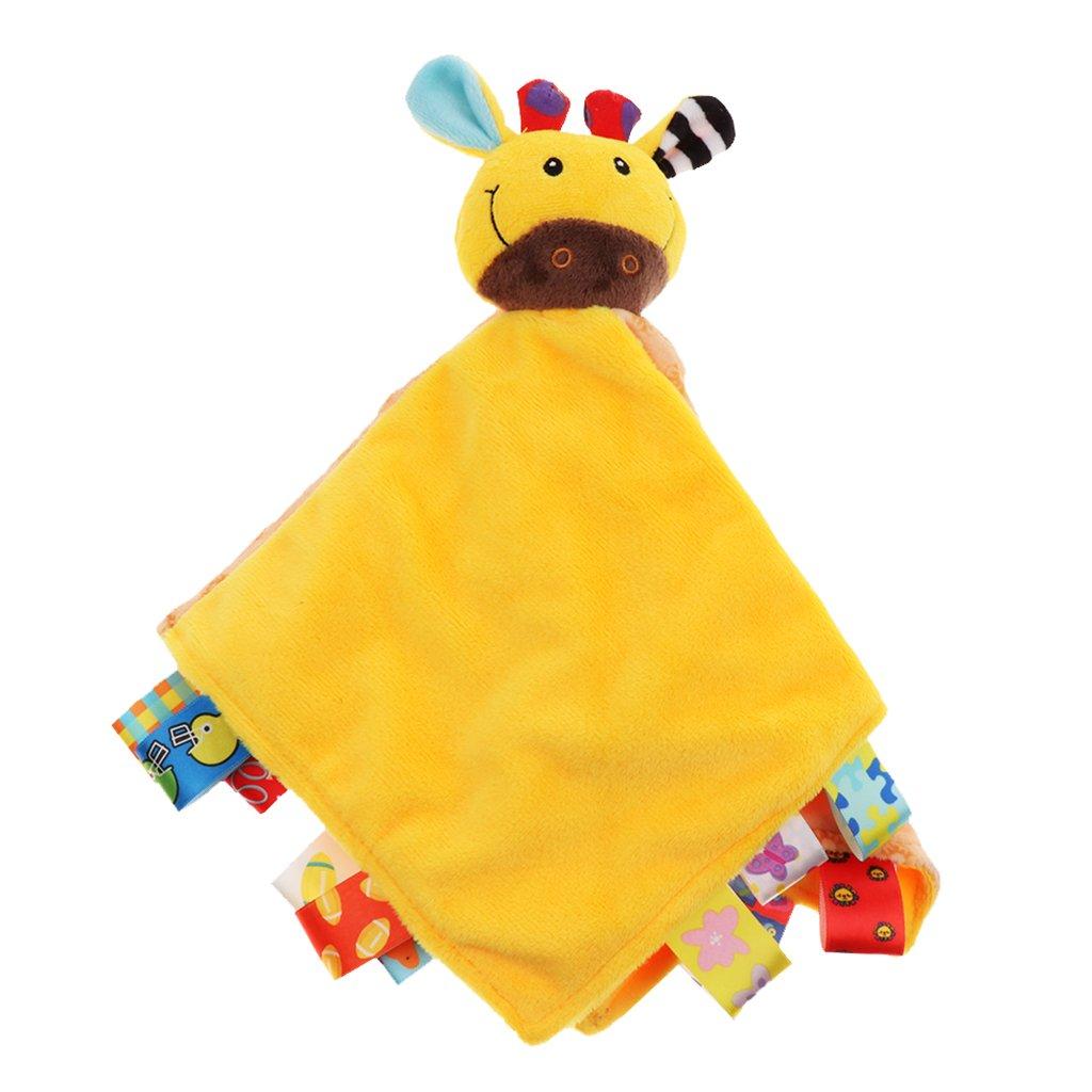 P Prettyia Personalised Baby Blanket Comforter Boy Girl Gift Tag Soft Plush - fox