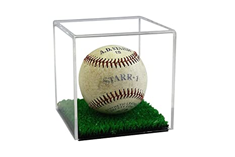 Deluxe Acrylic Baseball and Tennis Ball Display Case with Turf Floor (A057-TB)