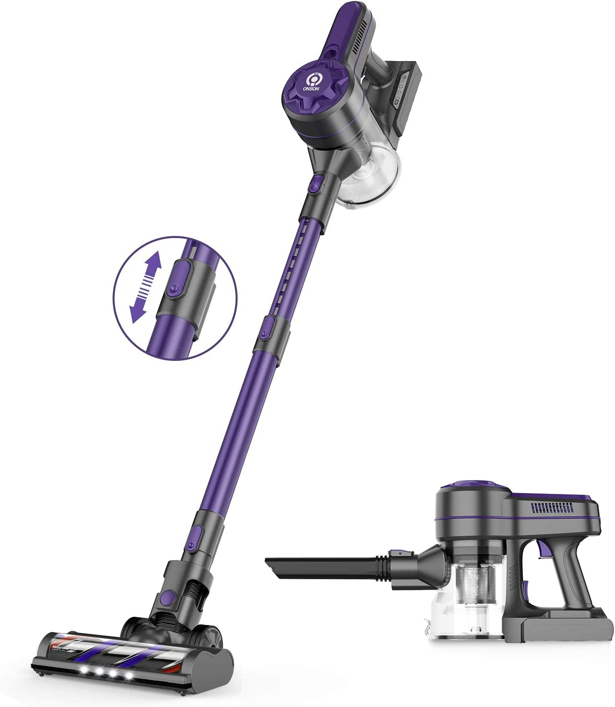 ONSON Coldless Vacuum Cleaner 20kPa Powerful Suction Lightweight 2-in-1 250W Motor Rechargeable Handheld Vacuum Used for Hardwood Floor Carpet Furniture Pet Hair
