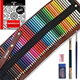 Colored Pencils Set W/ 48 Colors By Goodyism- Best Colored Art Pencils For Adults, Artists, Sketchers & Kids In Canvas Organizer Bag + BONUS Eraser, Extender, Brush, Sharpener & Ebook W/ 20 Mandalas