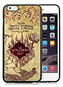 iPhone 6 Plus Case,2015 Hot New Fashion Stylish Harry Potter Marauders Map Black TPU Case Cover for iPhone 6 Plus (5.5)
