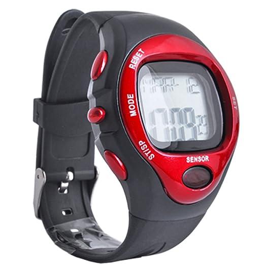 Reloj deportivo Pulsómetro Medidor correr sensor pulsaciones Digital: Amazon.es: Relojes