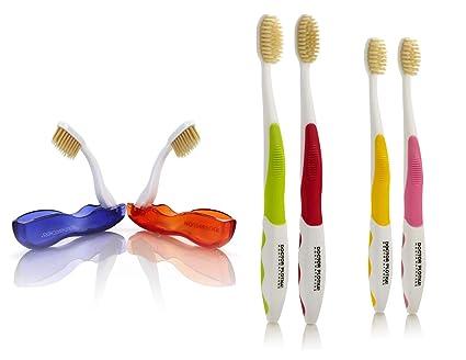 Doctor Plotka - Cepillo de dientes antimicrobiano para adultos, jóvenes y viajes, paquete de