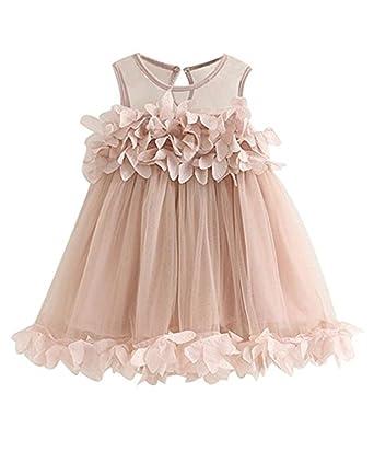Baby Kinder Mädchen Kleid Blumen Jeanskleid Prinzessin Sommerkleid Party Kleider