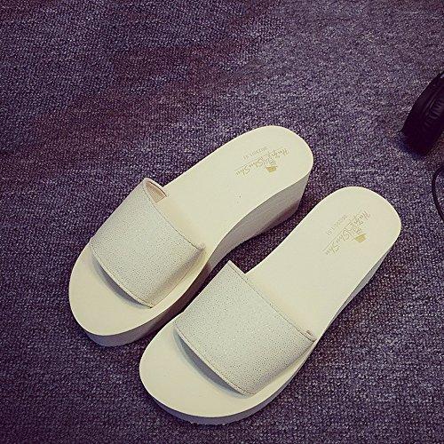 Bianca rosa Haizhen colore Sulla bianco Spiaggia Da Rosa Dimensioni Estive Pantofole Antiscivolo Sandali Donne Scarpe nero Donna Impermeabili Per 36 Spessi Le gznxTx17w