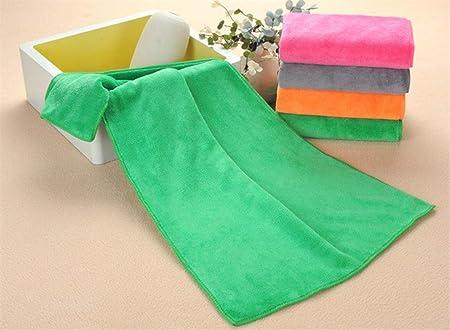 PENVEAT - Toalla de Microfibra para peluquería (35 x 75 cm, 85 g), Color Verde: Amazon.es: Hogar