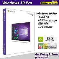 WIN  Dows 10 PRO Professional MS 32 & 64 bit codice Product Key Codice prodotto