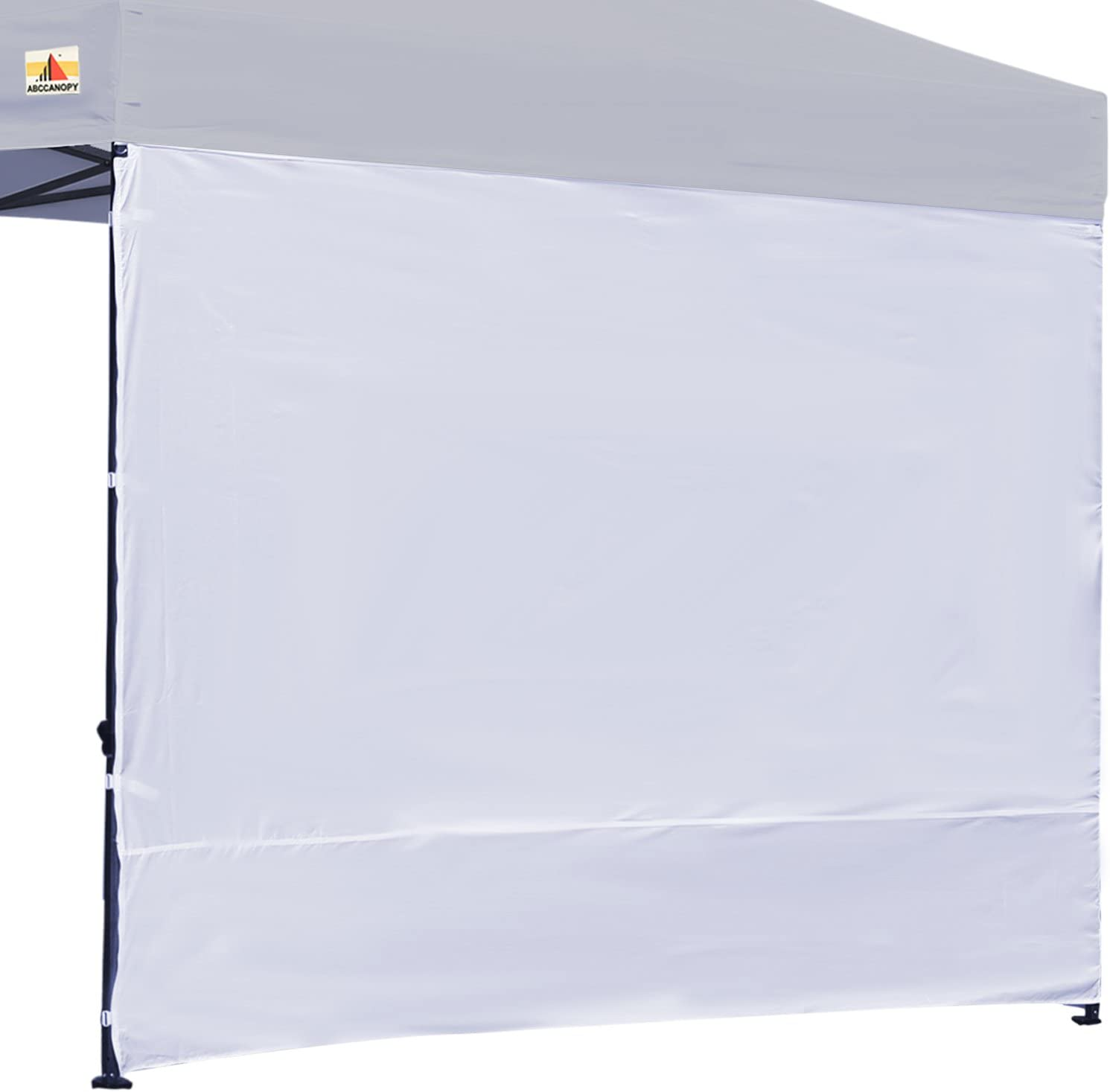 ABCCANOPY Instant Canopy SunWall 15 Colors for 10×10 Feet, 10×20 Feet Straight Leg pop up Canopy, 1 Pack Sidewall Only, White