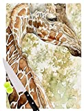 KESS InHouse EL1002ACB01 Wildlife ''Africa 2'' Brown Animals Cutting Board, 11.5 x 8.25'', Multi