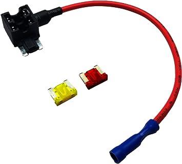 Amazon.com: Uriveusa 12V Car Add-A-Circuit Fuse TAP Adapter Fuse Holder  with 10A, 20A Fuse - (2 Pack) (Low-Profile Fuse): Automotive | Splicing Auto Mobile Fuse Box |  | Amazon.com