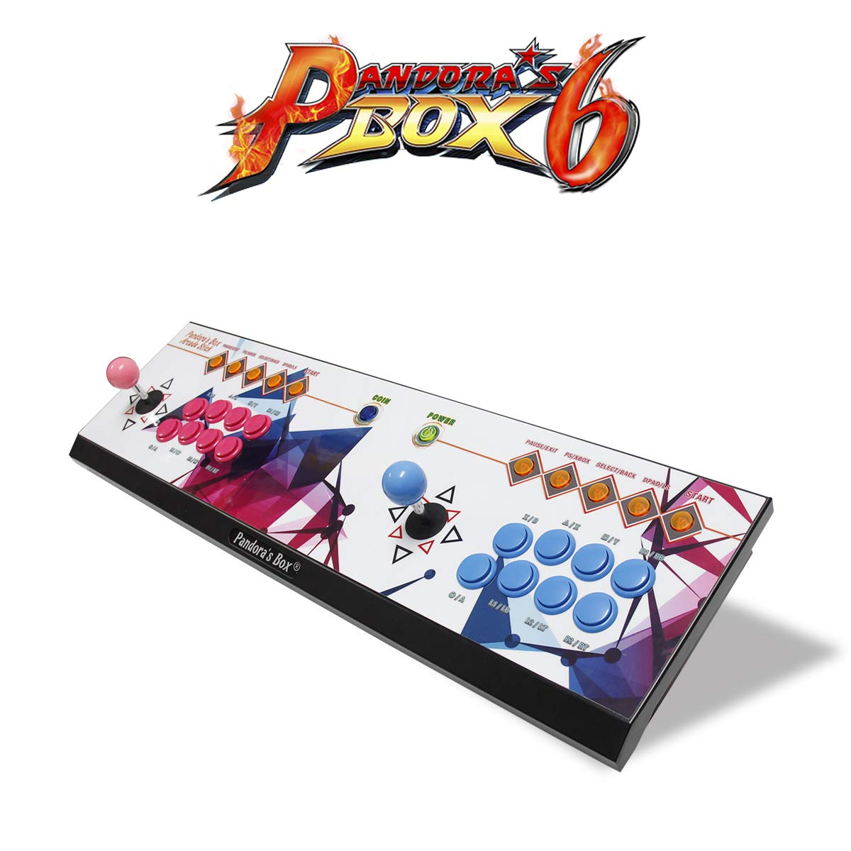 Wisamic Real Pandora's Box 6 Arcade Game Console - Add Additional Games, Support 3D Games, with Full HD, Games Classification, Upgraded CPU, Support PS3 PC TV 2 Players, No Games Included (8 Buttons) by Wisamic (Image #5)