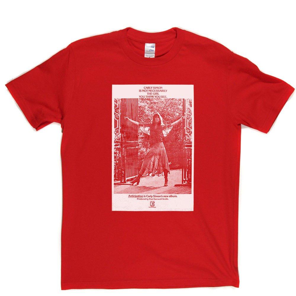 Carly Simon Anticipation T-shirt (red white medium)  Amazon.co.uk  Clothing 4a37093ef7534