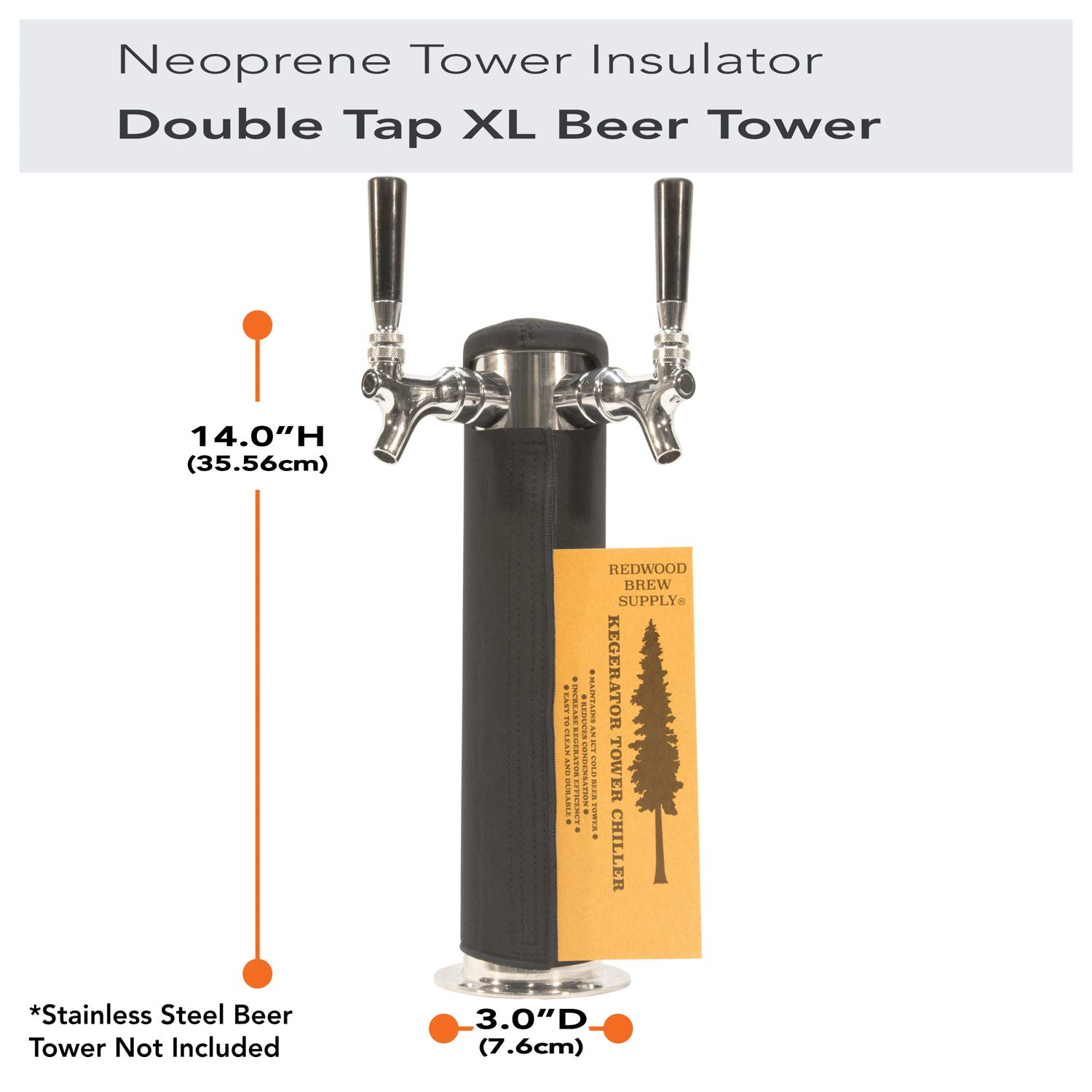 Amazon.com: Kegerator Tower Cooler Insulator XL for Beer Tap Towers by Redwood Brew Supply (3.0
