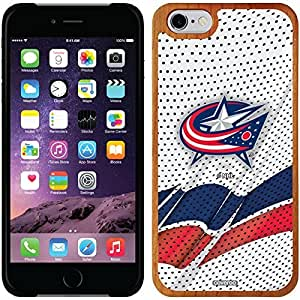 Coveroo iphone 6 4.7 Madera Wood Thinshield Case with Blue Jackets Away Jersey Design
