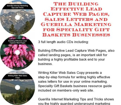 The Guerilla Marketing, Building Effective Lead Capture Web Pages, Sales Letters for Speciality Gift Baskets Businesses (Speciality Gift Baskets)