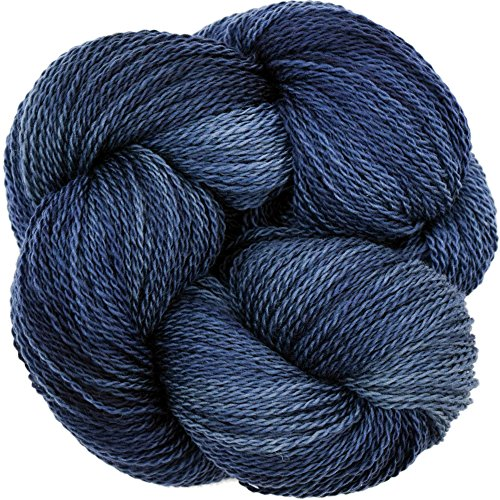 Living Dreams Yarn EcoLana. CERTIFIED ORGANIC MERINO. Cruelty Free & Responsibly Sourced. Hand Dyed in the USA. Night Sky