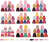 Ginasy 10 Pairs/20 Pcs Multi-style Strawberry Small Floral Dots Bear Mickey Cherry Toddler Baby Girls Hair clips Accessories (10 of the 100 pairs)