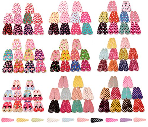 Ginasy 10 Pairs/20 Pcs Multi-style Strawberry Small Floral Dots Bear Mickey Cherry Toddler Baby Girls Hair clips Accessories (10 of the 100 pairs) by Ginasy