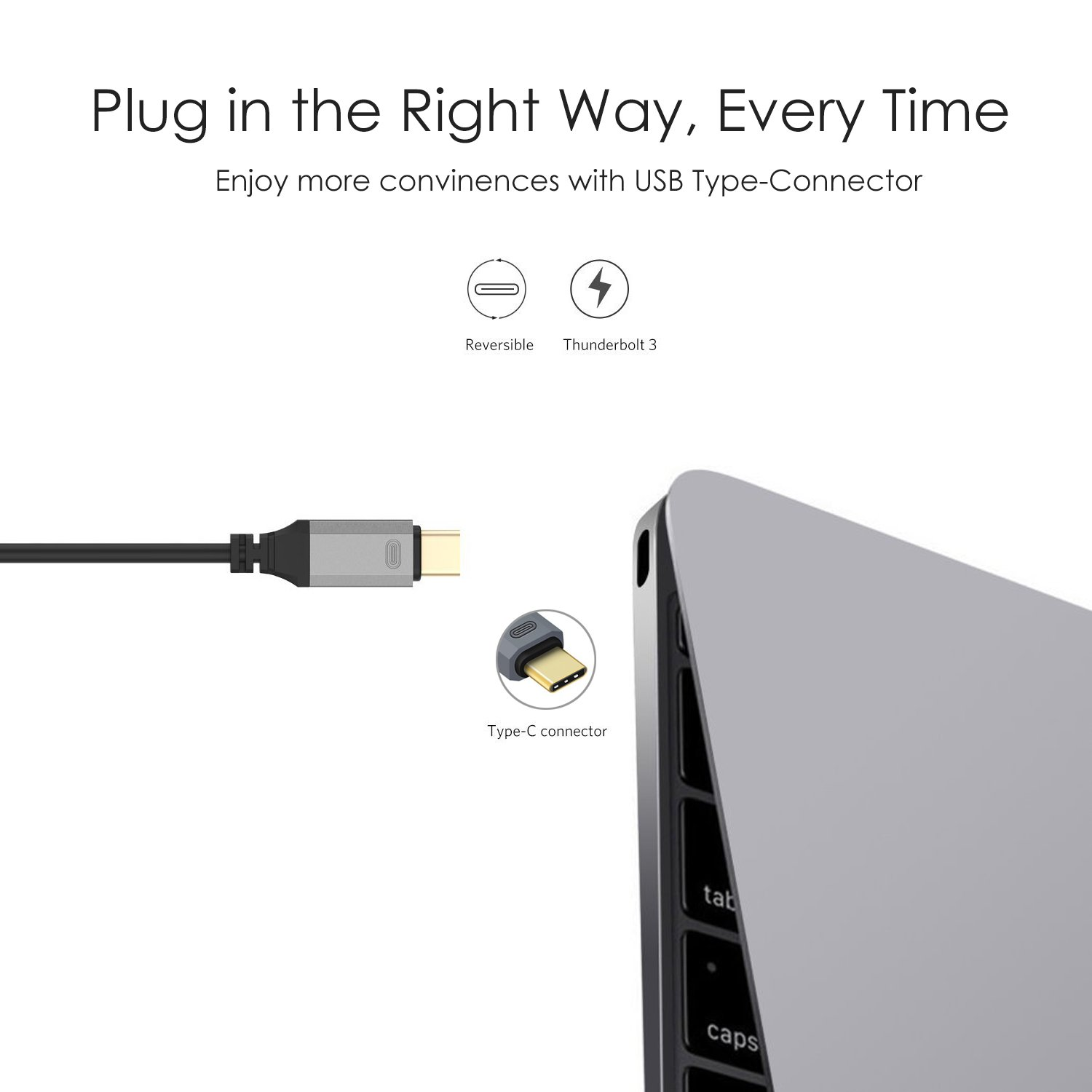 USB C to HDMI Cable,MacBook Pro USB 3.1 Type-C to HDMI 4K Digital AV Adapter Charger Cord,Android LG Samsung Galaxy HDMI Converter Dongle for TV Monitor Projector,Apple iMac Thunderbolt HDMI Connector by AIWADE (Image #8)