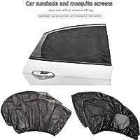 2PCs Car Side Window Sunshade, Car Anti - Mosquito Curtain Car Sun Shade Set Breathable Car Gauze Curtain for Baby, Children, Pets, Fits Most Car Sizes