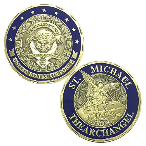 Air Force St Michael Challenge Coin US Security Police (Challenge Coin Air Force)