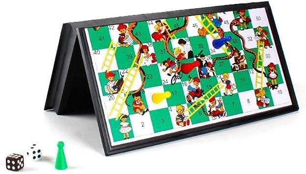 Odowalker 3D Serpientes y escaleras Juego de Mesa con Piezas, Kid Regalos Tradicionales de educación, Tablero Plegable, en Caja (14.5in × 10.6in × 2.1in): Amazon.es: Juguetes y juegos