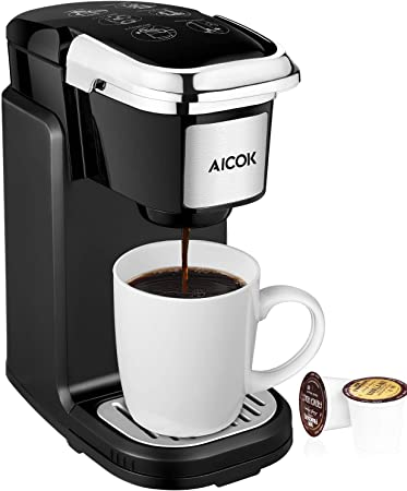 Amazon.com: AICOK - Cafetera de una sola taza con cubierta ...