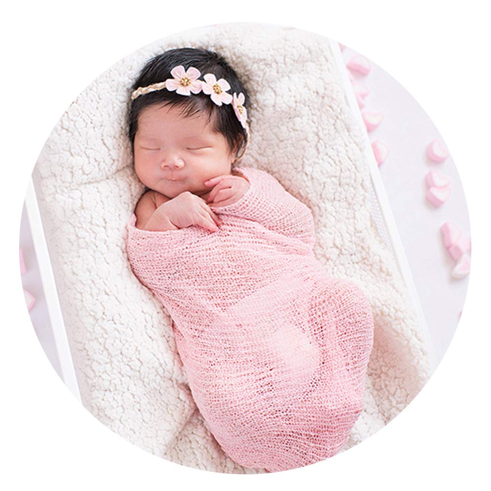 ARLAYO Newborn Baby Photography Props Cotton Stretch Wrap Fashion Styling Props Warm Pink