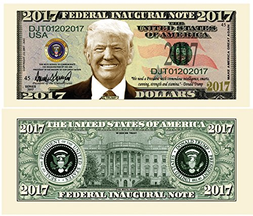 American Federal Collection - Set of 5 - Donald Trump 2017 Federal Inaugural Presidential Dollar Bill Limited Edition