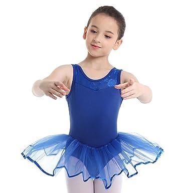 inhzoy Vestido Tutú de Danza Ballet para Niña Maillot ...