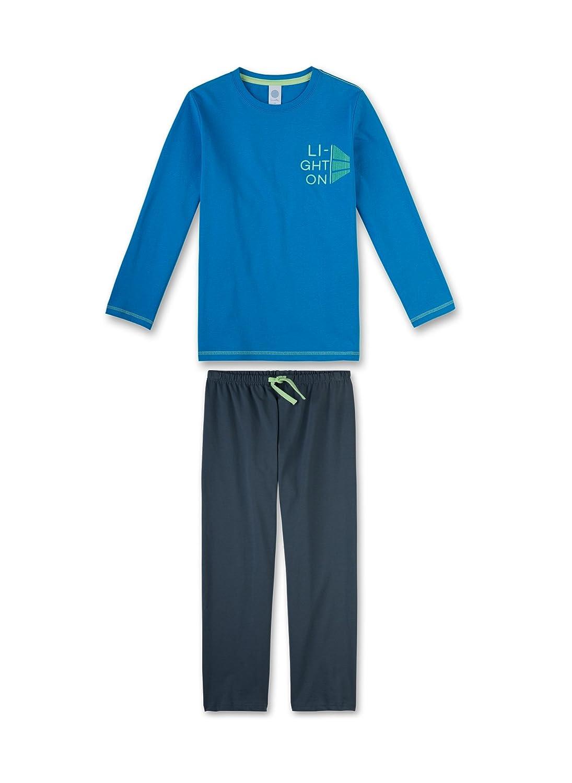 Sanetta Textilwe Pyjama Long 5879 Glacier BL Jungen Schlafanzug 243724