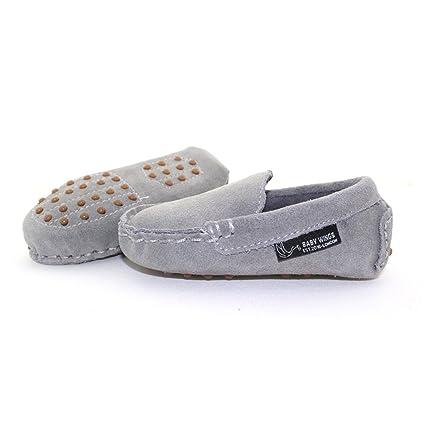 Mocasines zapatos bebe Unisex - Calidad Premium Piel organica 100% by BABYWINGS ® (12