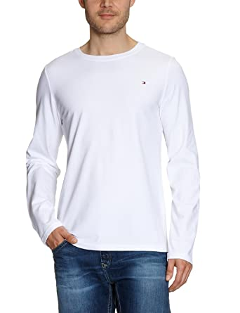 d52856fe Tommy Hilfiger Men's Mini Flag Longsleeve T-shirt Men's Loungewear Top XXL Classic  white: Amazon.co.uk: Clothing
