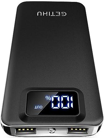 Amazon.com: getihu 10000 mAh Banco de energía portátil ...