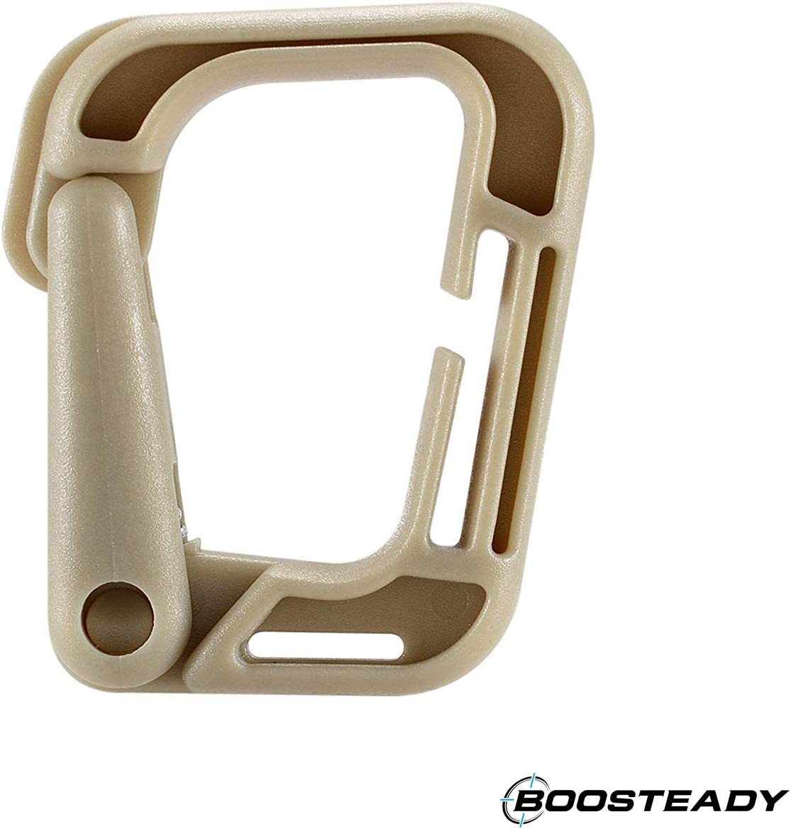 BOOSTEADY Multipurpose D-Ring Locking Hanging Hook Tactical Link Snap Keychain for Molle Webbing with Zippered Pouch