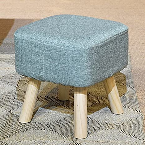 Sponge Hocker / Hocker / Massivholz Hocker / Hocker, Multi-Color optional, stilvoll und langlebig ( Farbe : Blau ) XIN XIN EU