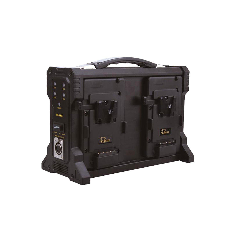 ROLUX RL-4KS 4X Charger for V-Mount Battery (Black) by Rolux