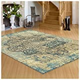 Cheap Superior's Zelda Collection Area Rug, 10mm Pile Height with Jute Backing, Durable, Fashionable and Easy Maintenance, 2′ x 3′ – Black