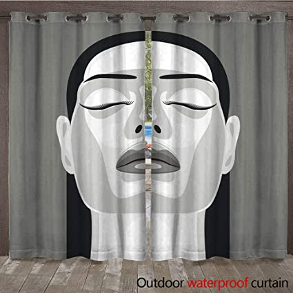 Amazon Com Winfreydecor Home Patio Outdoor Curtain Retro Portrait
