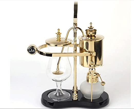 Cafetera Siphon Royal belga cafetera 450ml Oro: Amazon.es: Hogar
