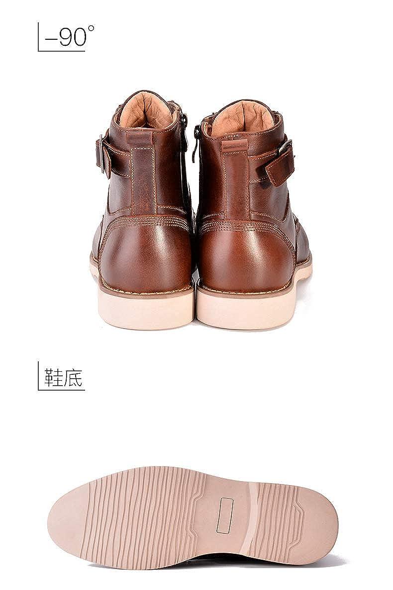 Newstarshop Spring Autumn Men Boots Fashion Men Lace-Up Bullock Shoes Male Soft Comfortable Footwear Rome Retro