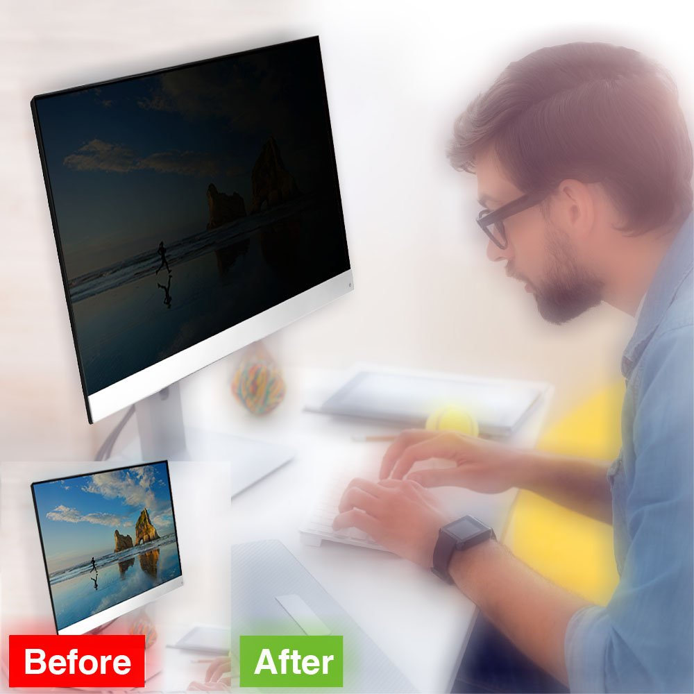 22 Inch Privacy Screen Filter for Widescreen Monitor ( 16:10 Aspect ratio) by J-Dream (Image #2)