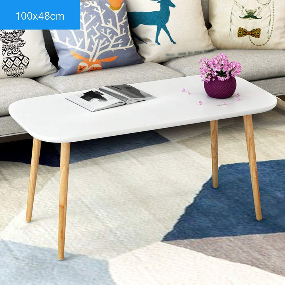 LJHA bianzhuo End Table, Wooden Side Table Used for Living Room Bedroom Sofa Bedside Table Coffee Laptop Tablet Small Coffee Table Small Table Bedside Tables (Size : A100x48x49cm) by GYH End Table