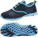 Aleader Women's Quick Drying Aqua Water Shoes Blue 10 D(M) US