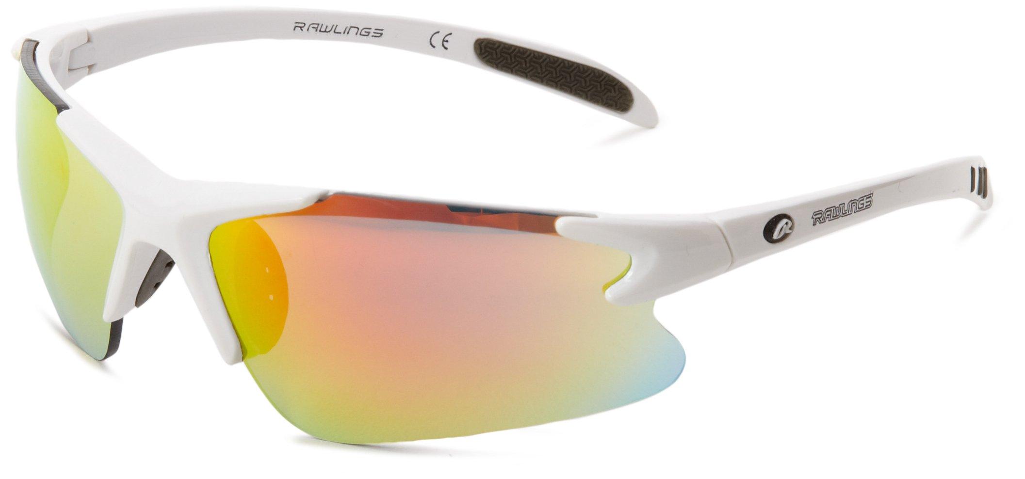 Rawlings RY103 Semi-Rimless Sunglasses,White,91 mm