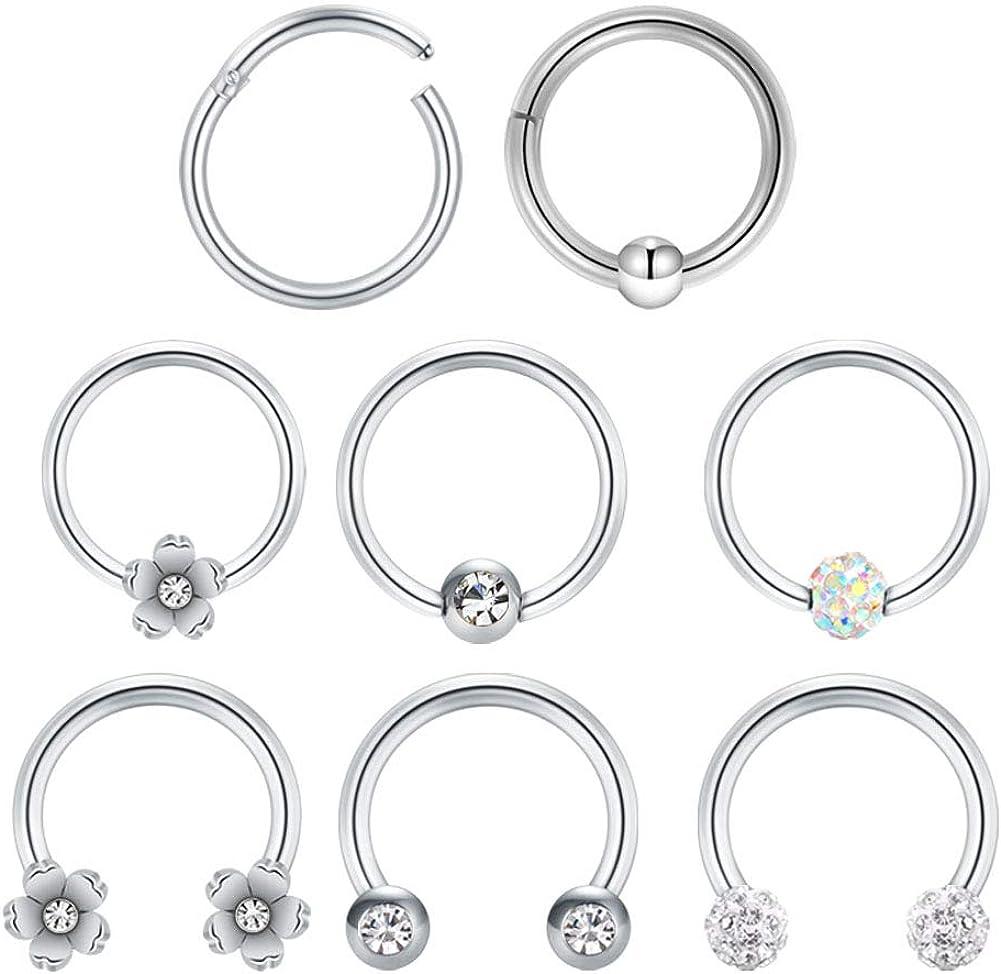 Septum Piercing Daith Jewelry Septum Clicker Jewelry Surgical Steel 14g  Daith Ring Septum Ring  Septum Earring