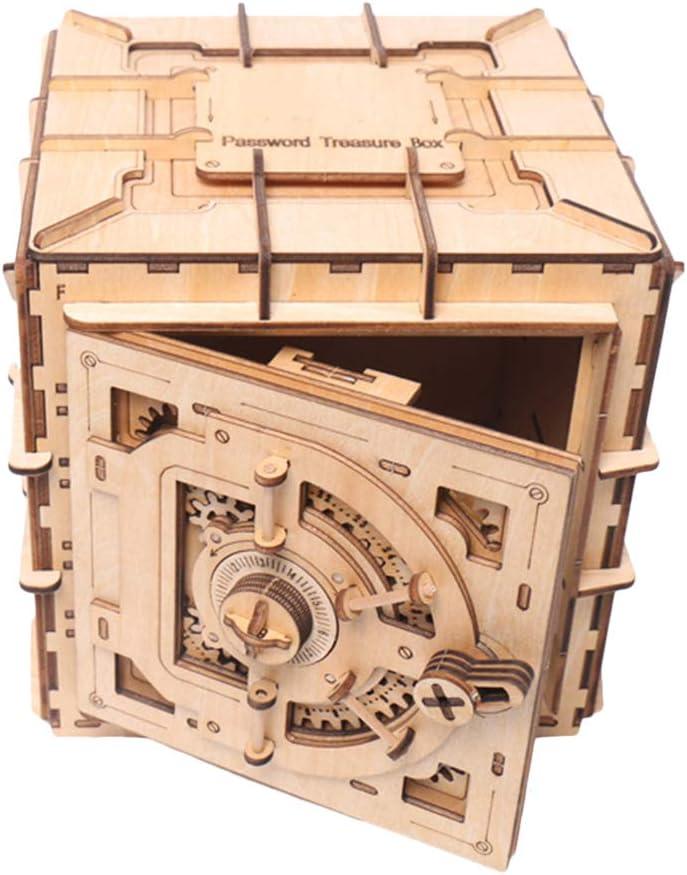 Daxoon 3D Rompecabezas de Madera DIY Treasure Box Modelo mecánico Creativo Caja de Almacenamiento de Joyas para Juguetes de Regalo de San Valentín: Amazon.es: Hogar