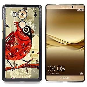 Bird Drawing Watercolor Rain Caja protectora de pl??stico duro Dise?¡Àado King Case For Huawei Mate 8