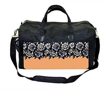 Image Unavailable. Image not available for. Color  Floral Half Print Orange  Gym Bag 6d2925cc9440a
